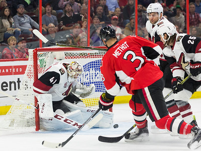 NHL 2016: Coyotes vs Senators October 18