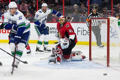 NHL 2017:  Canucks vs Senators October 17