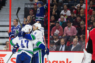NHL 2017:  Canucks vs Senators October 17