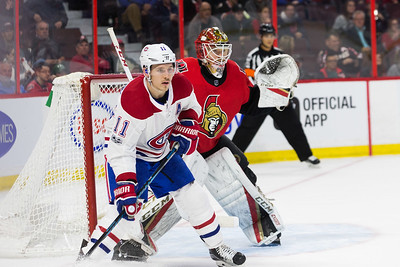 NHL 2017:  Canadiens vs Senators  October 30