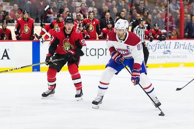 NHL 2017:  Canadiens vs Senators  October 30