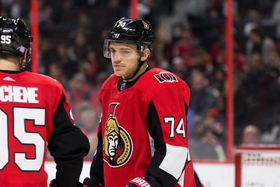 NHL 2017:  Coyotes vs Senators  NOV 18