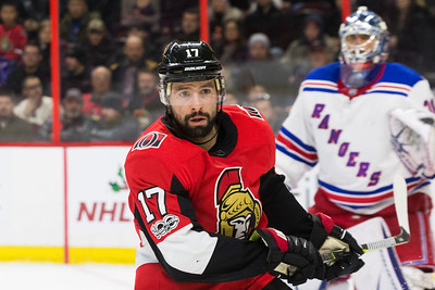 NHL 2017:  Rangers vs Senators DEC 13