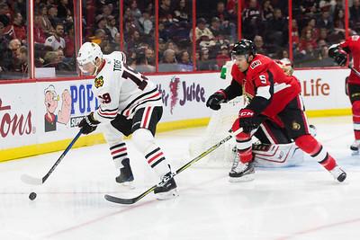 NHL 2018:  Blackhawks vs Senators JAN 09