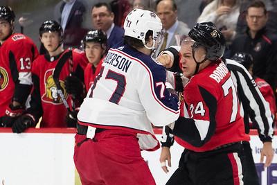 NHL 2019: DEC 14 Blue Jackets vs Senators