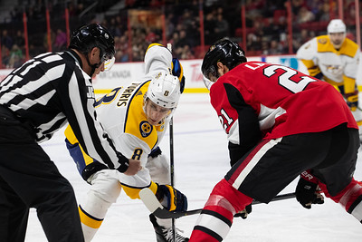 NHL 2019: Predators vs Senators  DEC 19