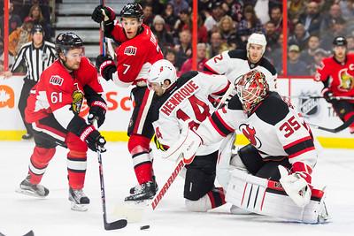 NHL 2015: Devils vs Senators DEC 30