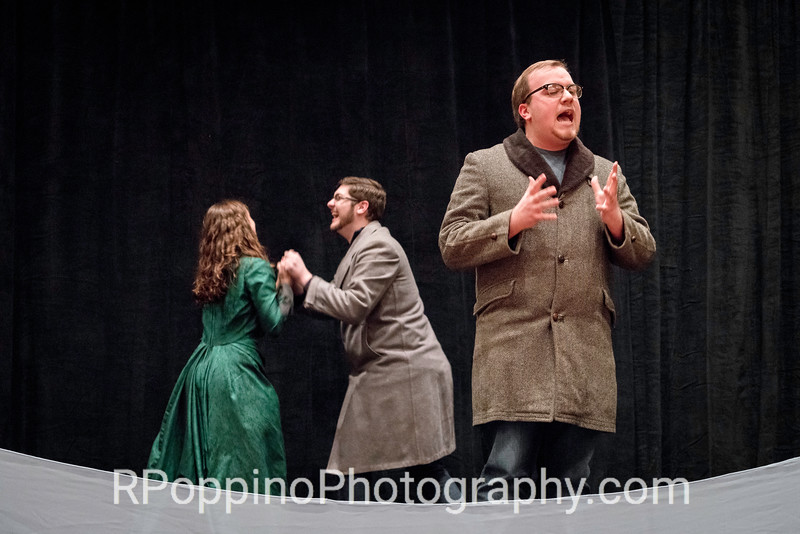 "Lutvak, A Gentleman's Guide to Love and Murder, Act I, ""Poison in My Pocket,""  DePauw University, rehearsal, Wednesday, January 6, 2016."