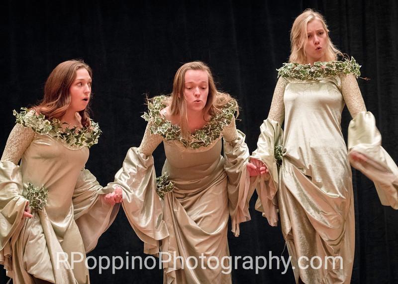 Dvorak, Rusalka, Act I, sc. 1,  DePauw University, rehearsal, Wednesday, January 6, 2016.