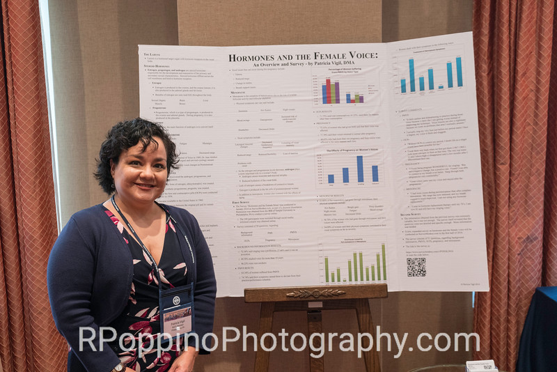 Poster Session, Hormones and the Female Voice, Dr. Patricia Vigil, DMA from Temple University, Thursday, January 7, 2016.