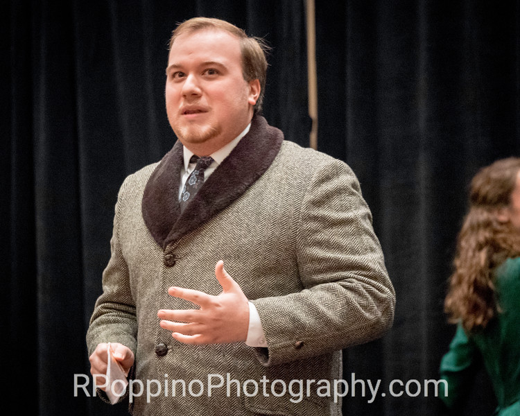 """2016 Collegiate Opera Scenes Competition; Guettel,  A Gentleman's Guide to Love and Murder, Act I, """"Poison in My Pocket,"""" DePauw University, Thursday, January 7, 2016."""