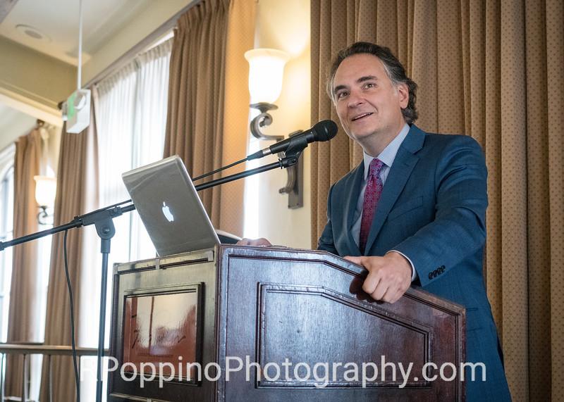Luncheon speaker Kostis Protopapis, Artistic Director, Opera Santa Barbara