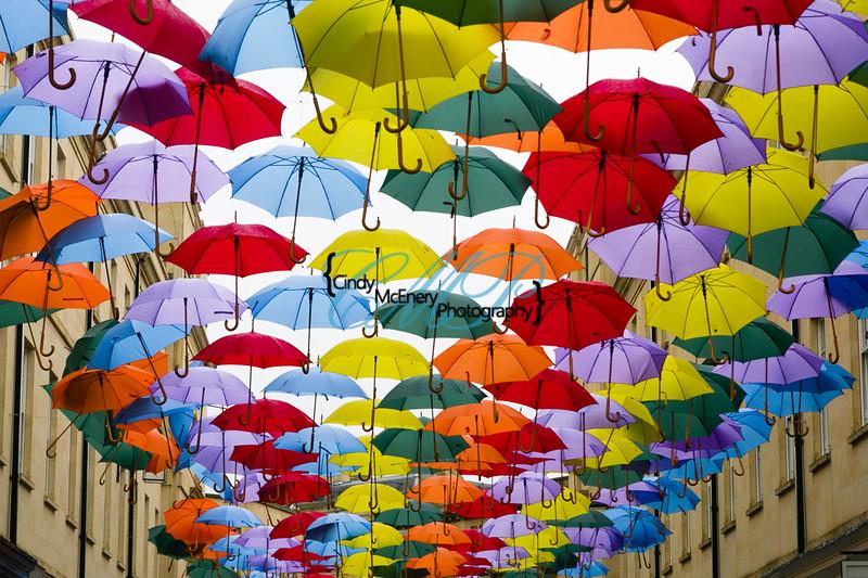 Umbrellas Fill the Sky