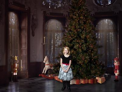 Paige and Christmas Tree