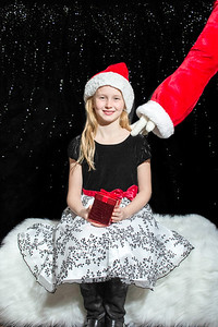 Paige in Santa Hat with Santa