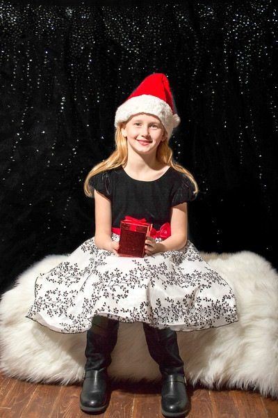 Paige in Santa Hat with Gift