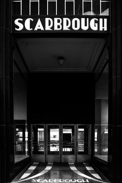 Scarbrough building (b&w)