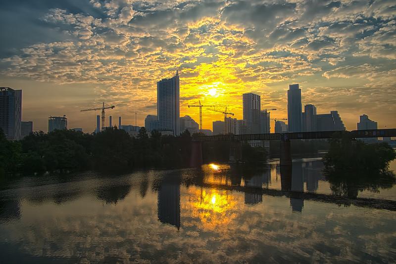 Austin Skyline sunrise