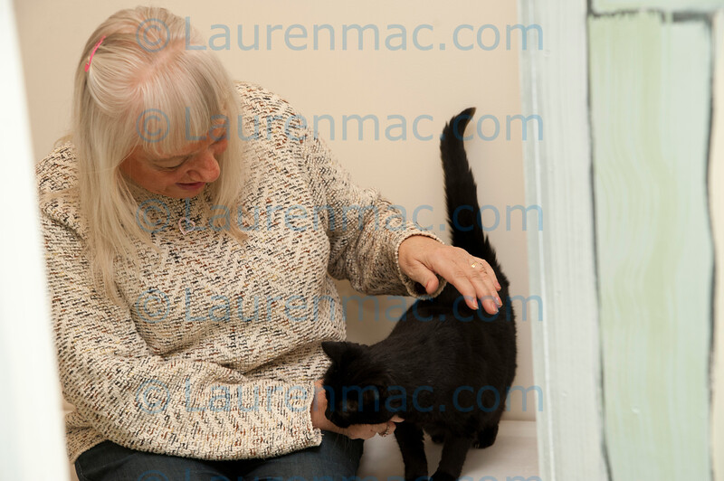 Not a dry eye in the house as Carol pets her long lost cat Mystyk for the first time in over four years.