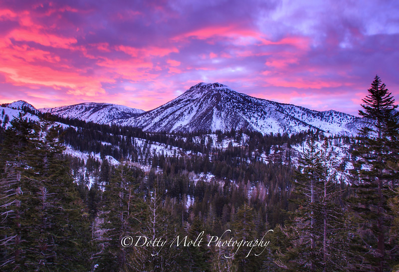 Mt. Rose Winter Sunset