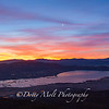 Sunrise over Washoe Lake and Carson City