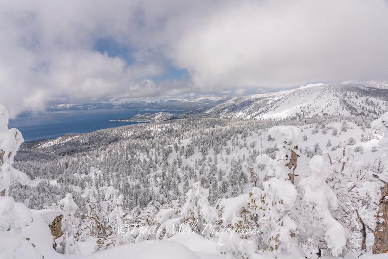 Winter over Tahoe Pano