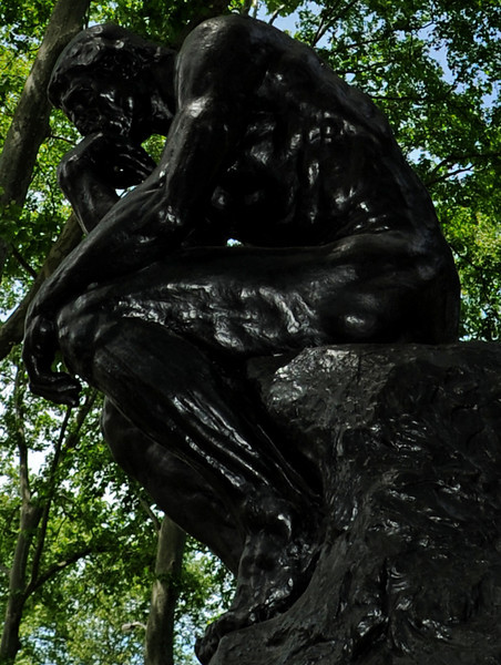The Thinker by Rodin<br /> The Rodin Museum<br /> Ben Franklin Parkway<br /> Philadelphia<br /> 7 May 2010