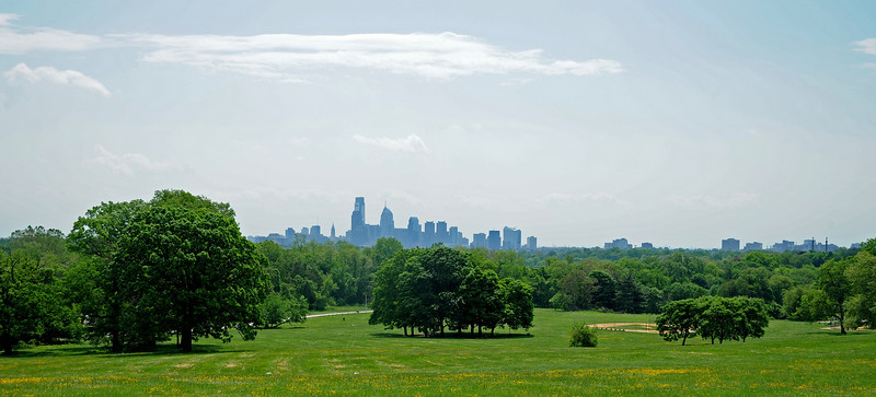 Philadelphia skyline from Fairmount Park<br /> Philadelphia<br /> 7 May 2010
