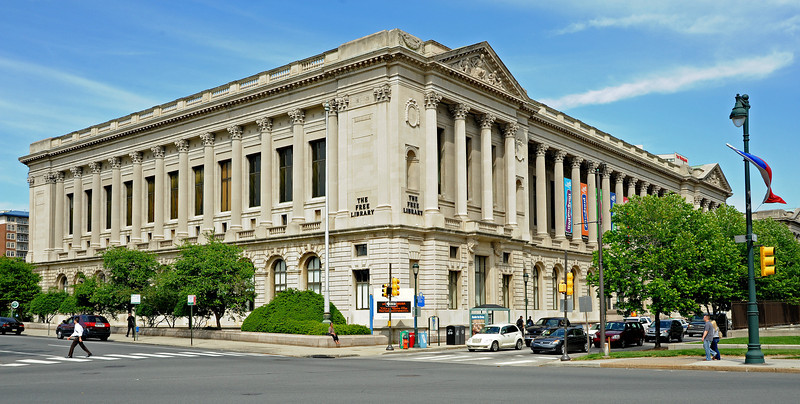 The Free Library<br /> Ben Franklin Parkway<br /> Philadelphia<br /> 7 May 2010