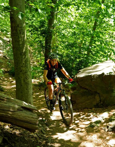 Mountain biking <br /> Wissahickon<br /> Philadelphia<br /> 7 May 2010
