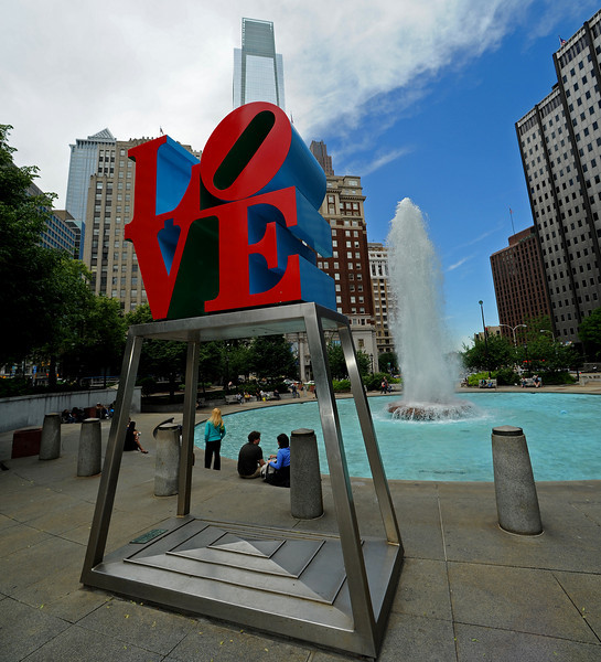 Love Park<br /> Ben Franklin Parkway<br /> Philadelphia<br /> 7 May 2010