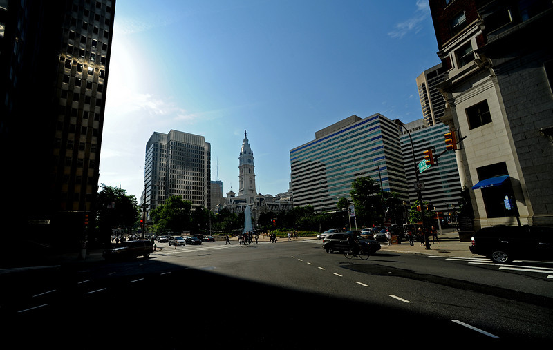 Love Park and Philadelphia City Hall<br /> Ben Franklin Parkway<br /> Philadelphia<br /> 7 May 2010