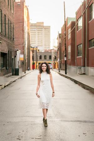 Phoebe's Senior Portrait photography in Downtown Lexington, KY.