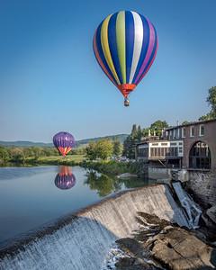 Balloon Over the Falls