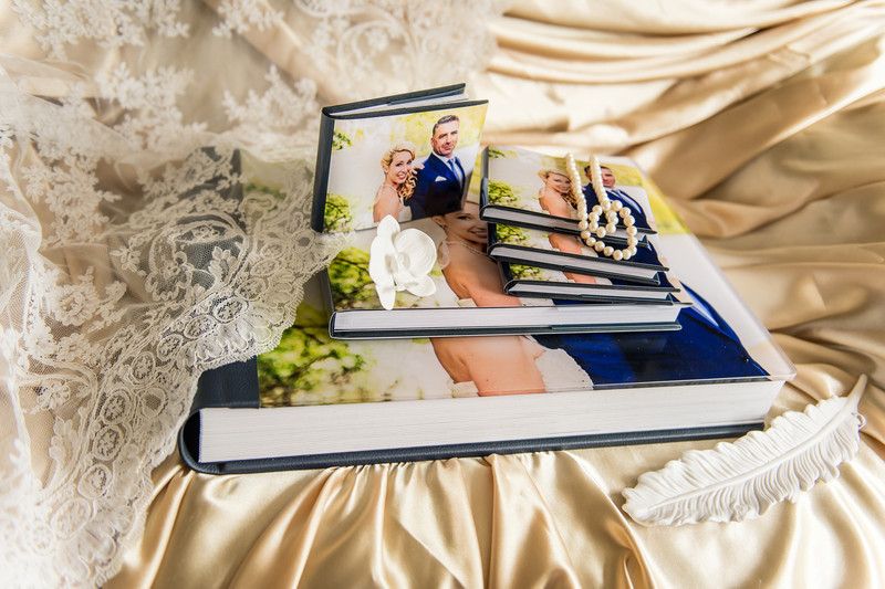 The Wedding Photo Album with smaller copies for parents and bridesmaids