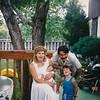 1988 Sue holding Fano, Sandy behind Tino