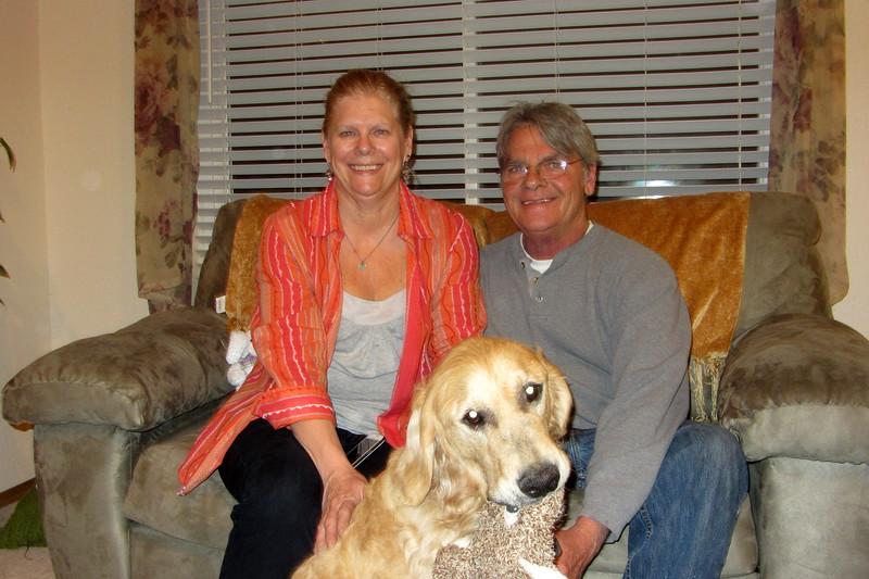 Sue & Sandy Santori (with their dog Sonny)  Easter 4-20-14