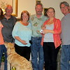 Joan & Gary Maring, Shawn & Mark Maring, Sue & Sandy Santori (with their dog Sonny)  Easter 4-20-14