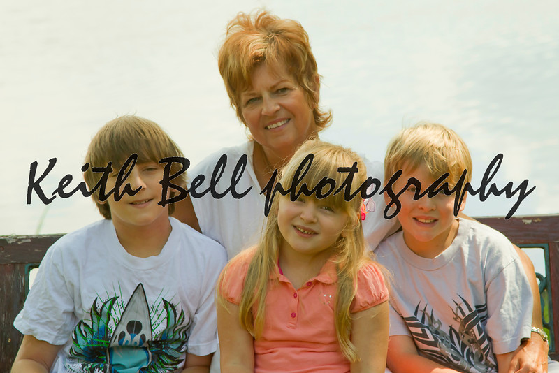 Nana with the grandkids.
