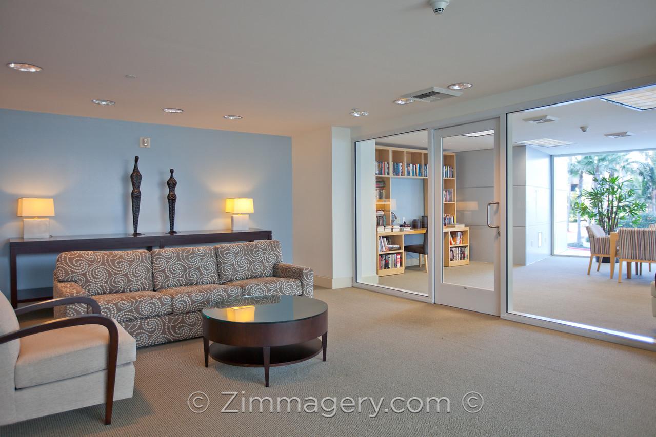 Real Estate MLS Shot, Common Area Library, The Regatta