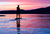 Stand up PaddleBoarding on Lake Tahoe Sunset, Reflections