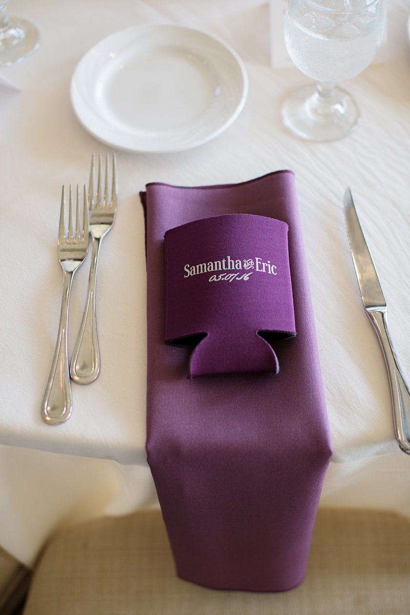 Eric and Samantha's purple and silver wedding at Hunt Valley Country Club. The Washington, DC wedding photographer was Jalapeno Photography.