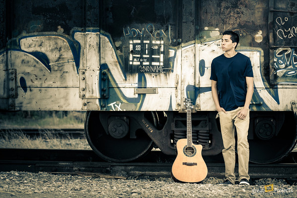 Playing around in Lightroom with another photo from Brennan's session.
