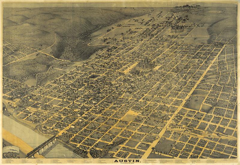 1887 Map of Austin