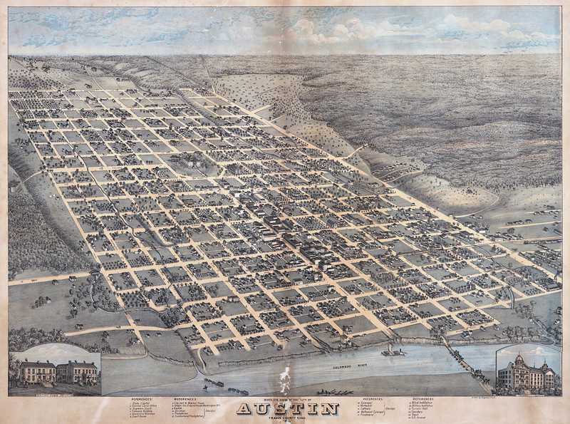 1873 Map of Austin, Texas