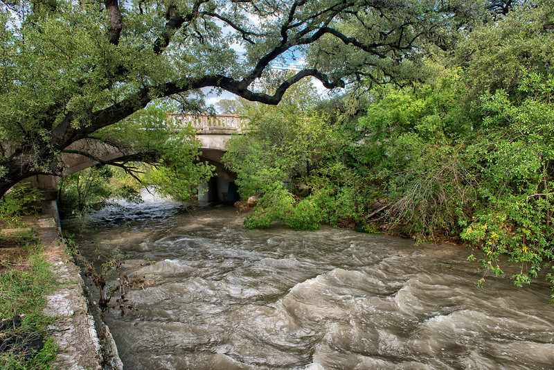 1928 Shoal Creek at West 24th After the Rains