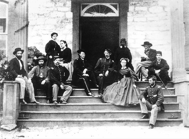 George Armstrong Custer on the Porch of the Neills-Cochran House