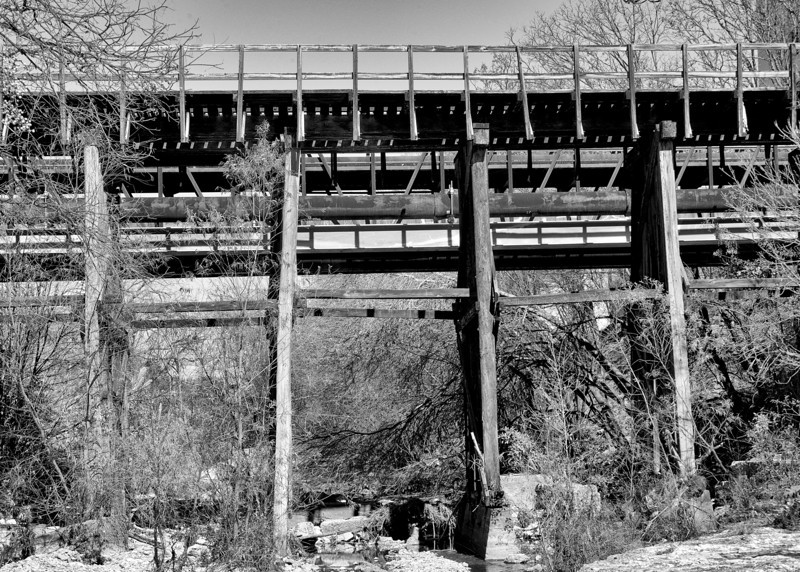Railroad trestle over Shoal Creek
