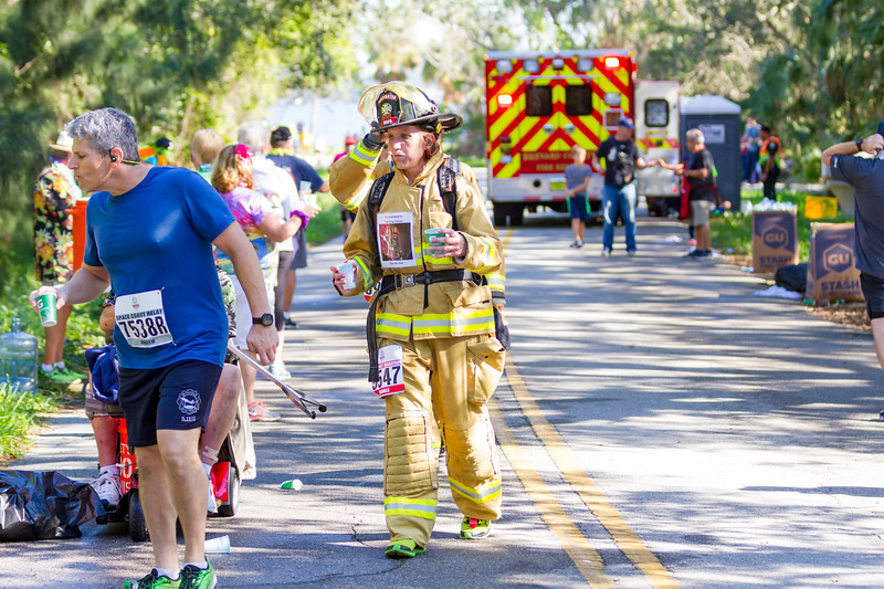 Pictures from mile 20 of the Space Coast Marathon course, during the November 26, 2017 run.