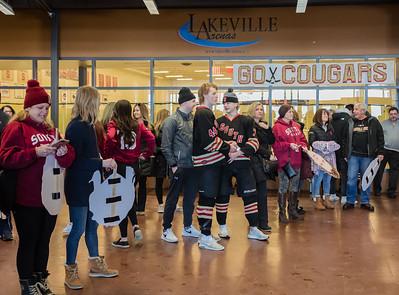 Lakeville S vs State Send Off-10